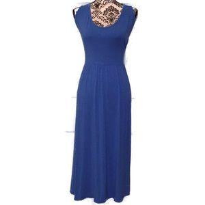 Lane Bryant Sleeveless Midi Dress Blue 3x